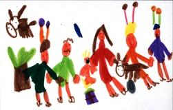 Exposición de postales navideñas infantiles